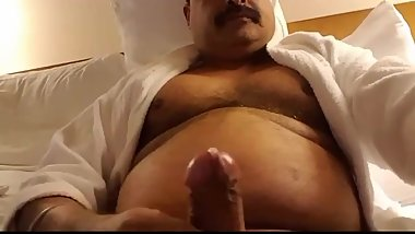 Indian daddy jacking off
