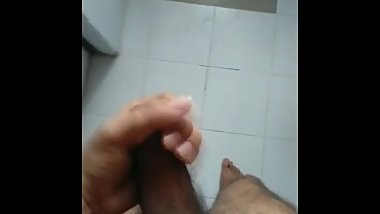Horny dick jerk off with precum oozing out