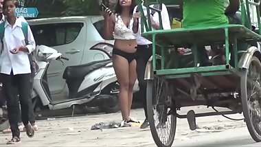 EUF: Indian Girl Drops Skirt in Public