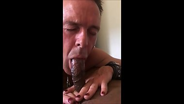 white slut whore slave gee sucking and being fucked by Indian COCK