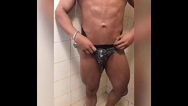 Desi Indian Bodybuilder Shower Prt 2