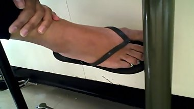 Candid Indian Flip-Flop Soles Close-up (Almost Caught)