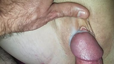 Indy creampie #3. Double down.