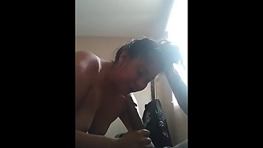 Interracial Dick Sucking Session