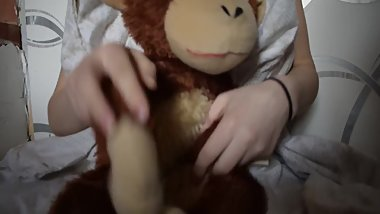 kinky monkey touching his BB (Big Banana)
