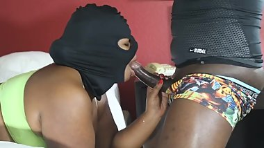 Chubby Cum Robber Gets Her Face Fucked While She Tries To Steal His CUM