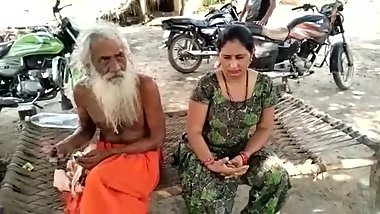 Baba with indian bhabhi